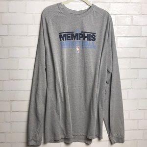 Memphis Basketball Adidas Long Sleeve Perform 2XLT